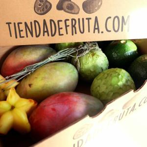 cesta de fruta tropical