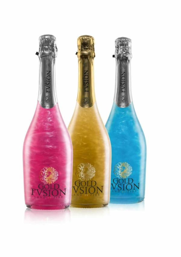 No te pierdas nuestro pack de tres GOLD FVSION SIN ALCOHOL GOLDEN, PINK AND BLUE