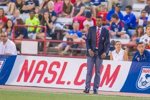 Kleberson on the sidelines (Photo: Indy Eleven)