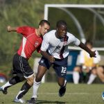 Gale Agbossoumonde in 2007 (Courtesy US Soccer)
