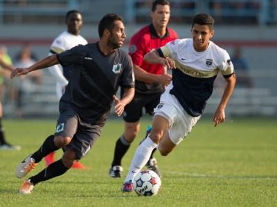 Armada's Nicolas Perea pressures Minnesota's Ibson (Photo: Minnesota United FC)