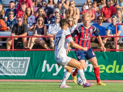 Indy's Zach Steinberger did well in his first game for the Eleven. (Photo: Trevor Ruszkowski/Indy Eleven)