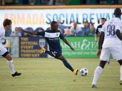 Jemal Johnson winds up to shoot. (Photo: Jacksonville Armada FC)