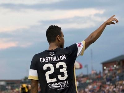 Jaime Castrillón celebrates the Armada's first goal (Photo: Jacksonville Armada FC)