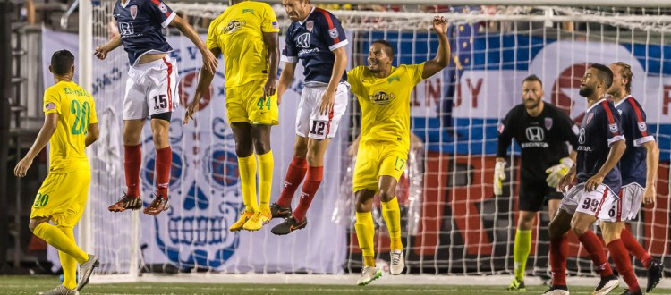 Aug 19, 2015; Indianapolis, IN USA; NASL: Tampa Bay Rowdies at Indy Eleven - During the game at IUPUI's Michael A. Carroll Stadium. (Photo: Matt Schlotzhauer/Indy Eleven)