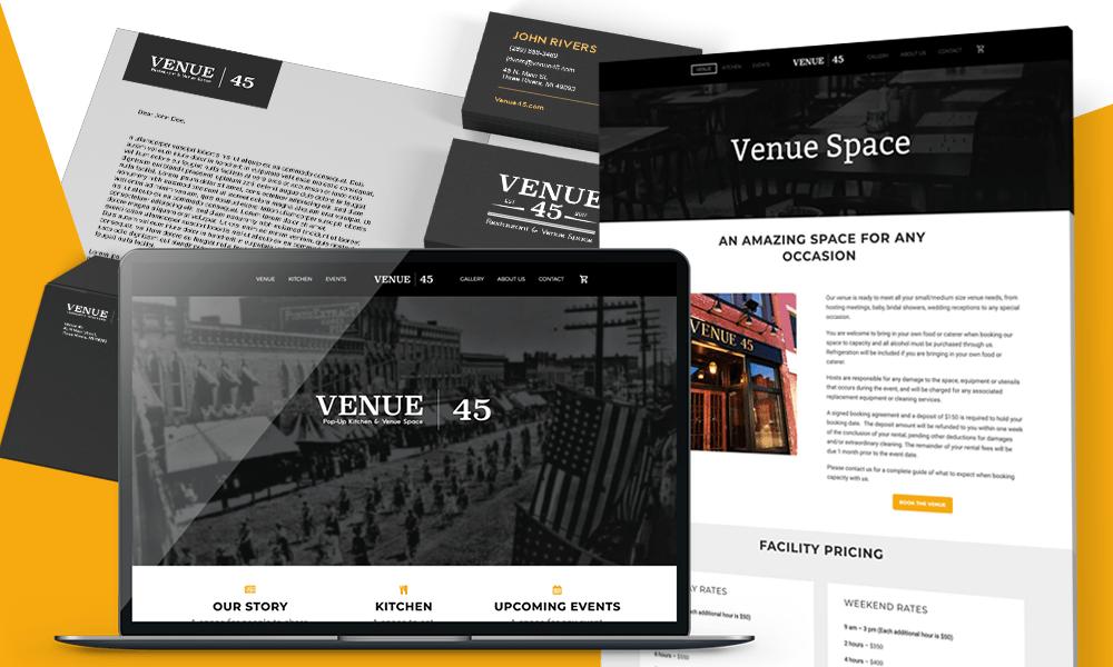 Venue 45 Branding and website design