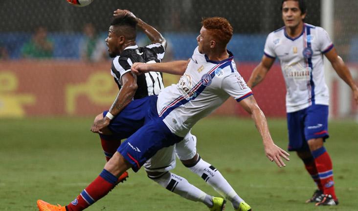 Marinho participou do gol que definiu a partida, teve boa movimentação, mas não vai jogar na partida de volta por suspensão