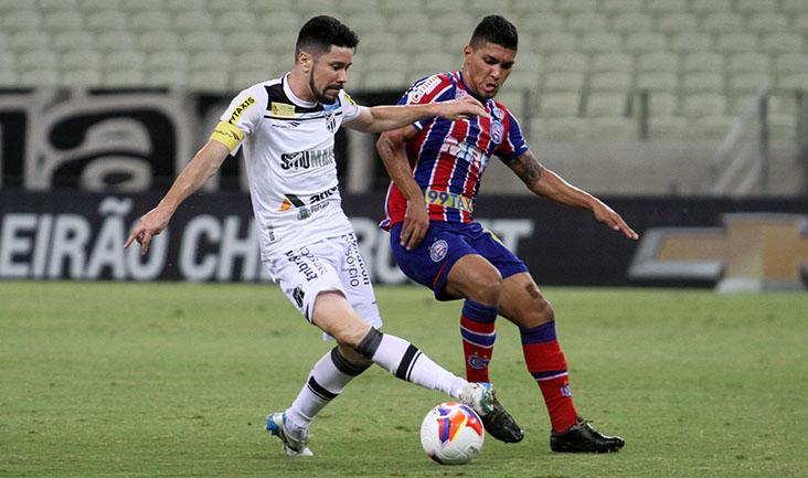 O meio-campista Ricardinho teve boa atuação e deu muito trabalho ao goleiro Omar