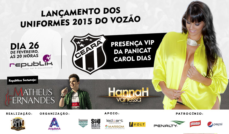O evento deste ano conta mais uma vez com a participação da belíssima ex-panicat e apresentadora Carol Dias