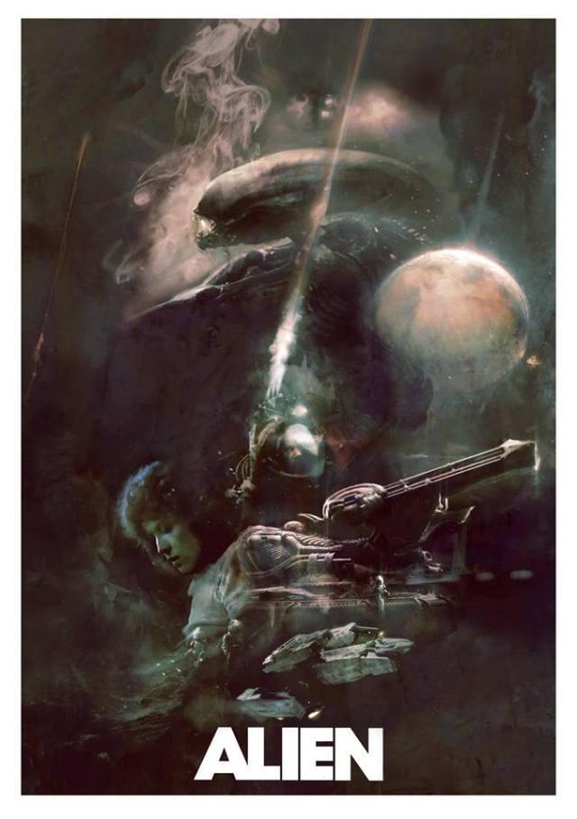 Alien Posters   Sucessos do cinema dos anos 80 e 90 ganham novos posters incríveis e sombrios
