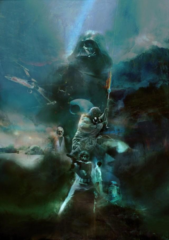 Star-Wars- Posters   Sucessos do cinema dos anos 80 e 90 ganham novos posters incríveis e sombrios