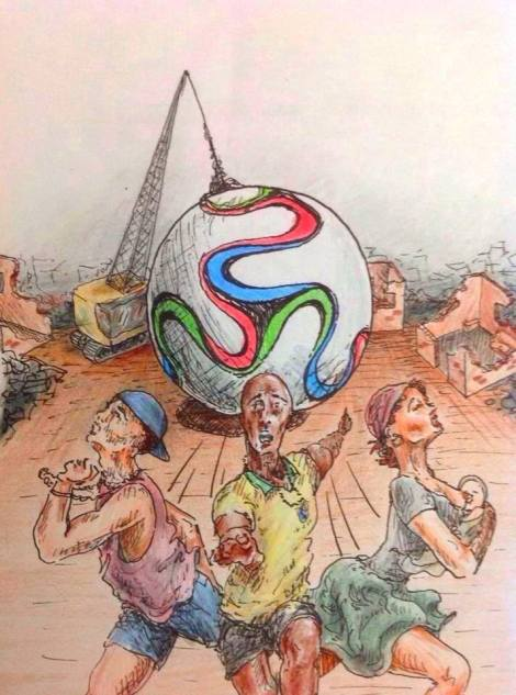 Ilustração de Cora Salles é tema do convite da exposição Um outro olhar sobre a Copa