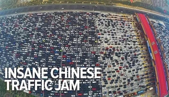 transito china - Trânsito Chinês: Parece São Paulo mas não é!