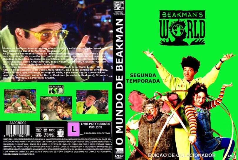 capa dvd tamanho beakman 2 - O Mundo de Beakman programa de humor que tratou a Ciência a sério