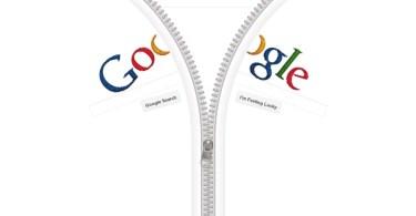 Google Homepage Becomes a Giant Zipper 2 - Artigo: A mente apaga registros duplicados - O cérebro e o tempo viva a vida