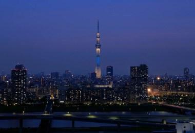tokyo sky tree night - Tokyo Sky é inaugurada como a Torre mais alta do mundo