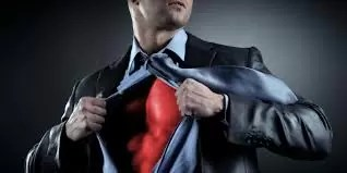 heroi super roupa