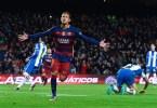 neymar comemora o ultimo gol do barcelona