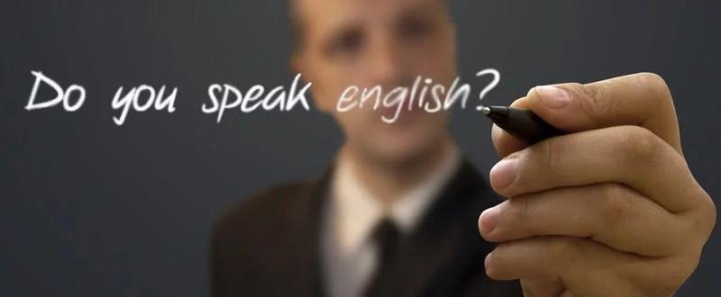 falar em ingles