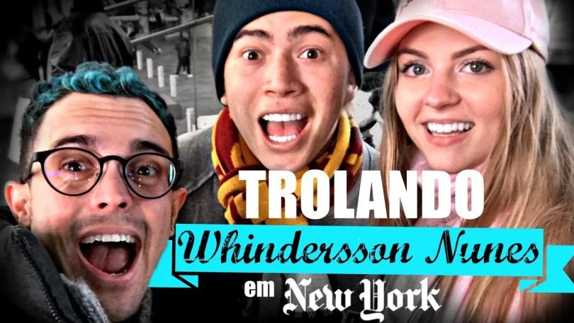 whindersonnunes - Youtuber brasileiro trola Whindersson Nunes na Times Square