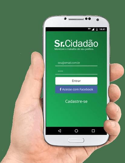 app sr.cidadão 1 - Estudantes de Sistema da Informação desenvolvem app para  acompanhar atividades de políticos