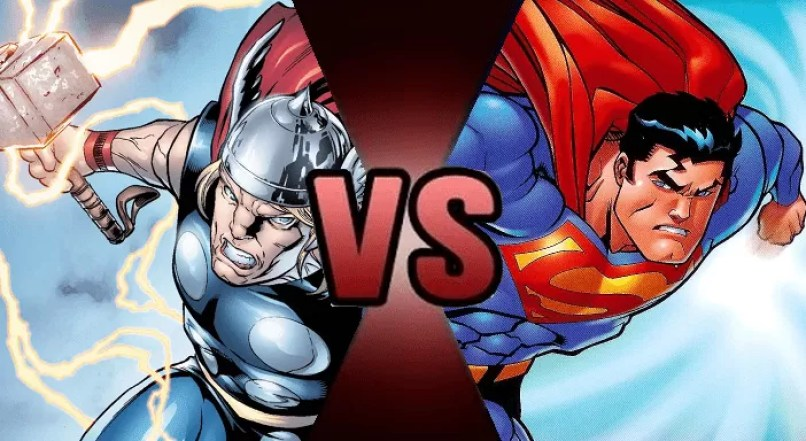 "crossover Death battle thor vs superman part 1 by the deadliest doge d8udxlz - 21 maiores ""Crossovers"" da história do entretenimento"