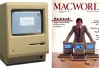 first macintosh steve jobs macworld cover - Platéia vai a loucura com Steve Jobs apresentando o NOVO Macintosh 1984