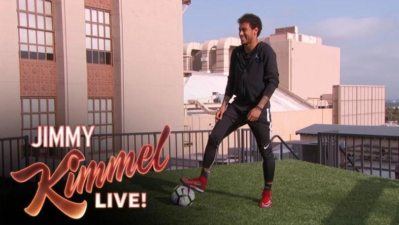 neymar nos eua - Assista Neymar no programa Jimmy Kammel dos EUA