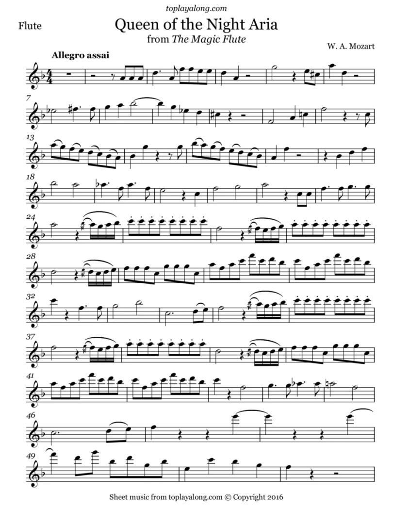 partitura rainha da noite - Quem são as cantoras que desafiaram cantar a Rainha da Noite?