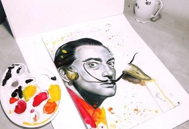 salvador dali - Pintora faz arte inspiradas em grandes artistas