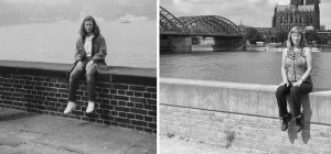 foto antes e depois mulher 30 anos depois - Mulher tira foto no mesmo lugar 30 anos depois
