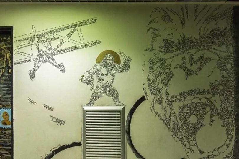 grafite pinturas artistas 30 - Grafiteiros pintam uma residência estudantil e o resultado chama atenção