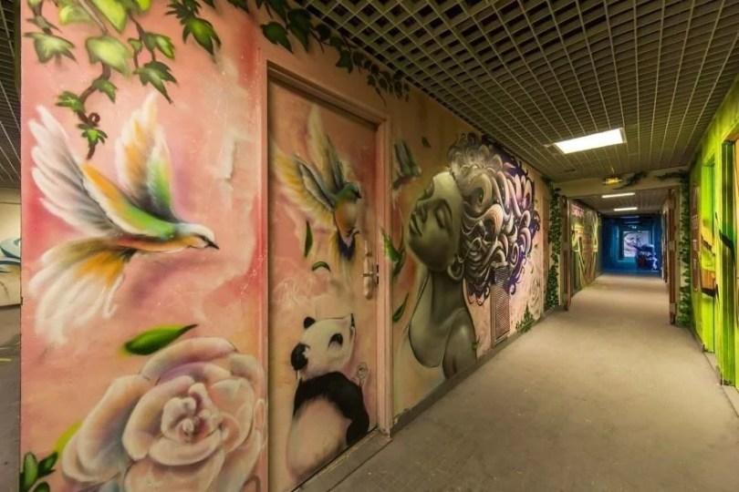 grafite pinturas artistas 6 - Grafiteiros pintam uma residência estudantil e o resultado chama atenção