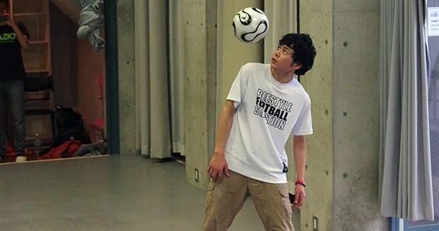 japones habilidoso recorde embaixadinha - Japoneses também são habilidosos com a bola