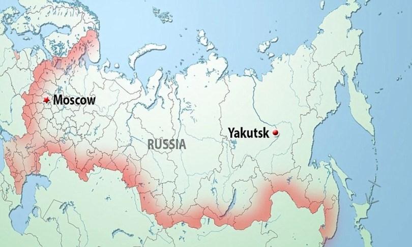 mapa russia Yakutska - As praias de areia branca da Sibéria