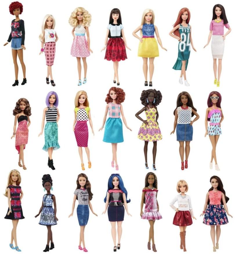 barbie - Evolução da boneca Barbie desde 1959