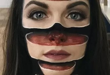 foto maquiagem - Maquiagem perfeita com ilusão óptica