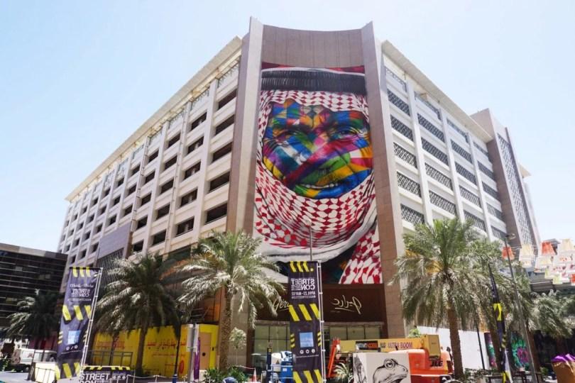 kobra emirados arabes - Murais de Graffiti de Eduardo Kobra pelo mundo