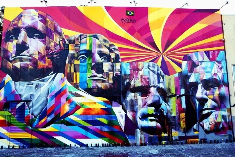 kobra mural 1 - Murais de Graffiti de Eduardo Kobra pelo mundo