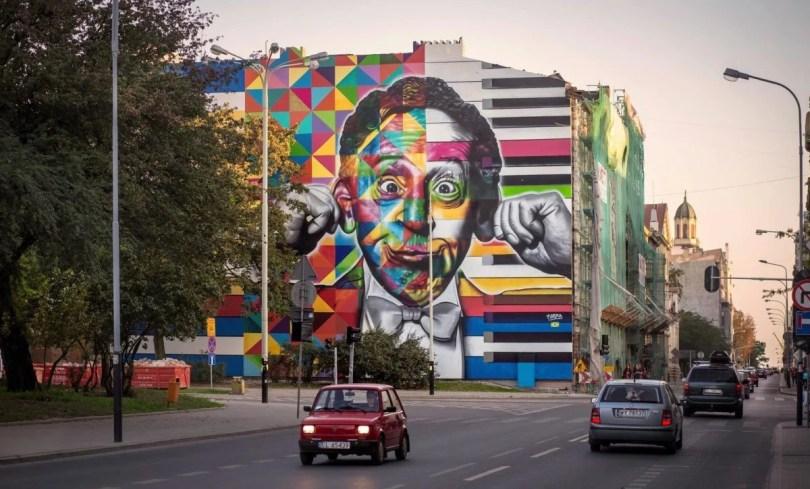 kobra polonia2 - Murais de Graffiti de Eduardo Kobra pelo mundo