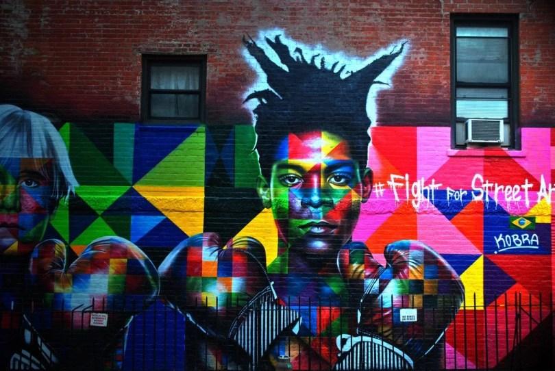 mural luta boxe - Murais de Graffiti de Eduardo Kobra pelo mundo