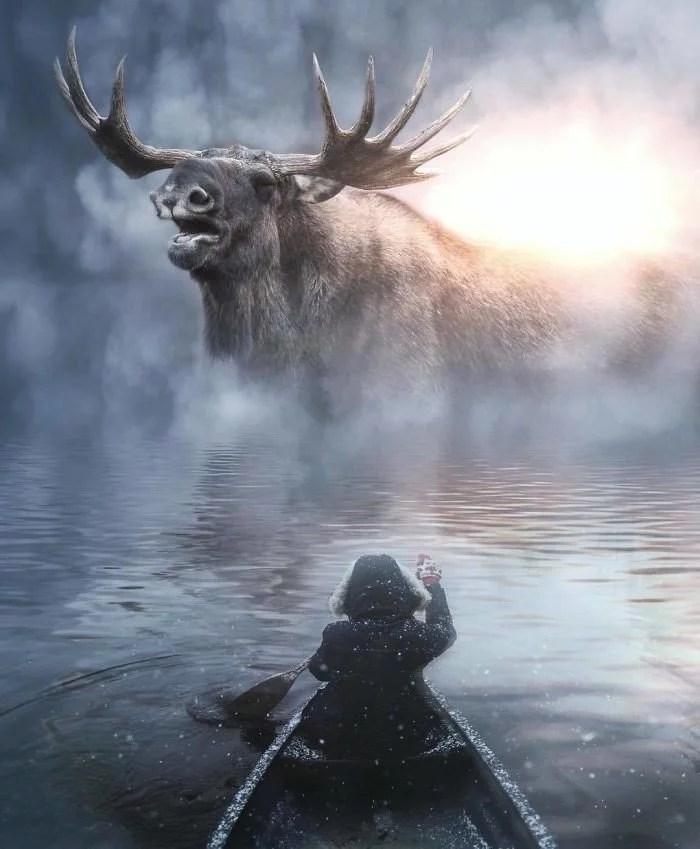 animals gigants 18 - Photoshop: Imagine um mundo com animais gigantes