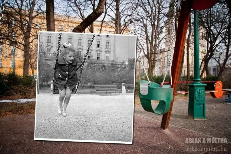 Photographer joins the present and the past in an image and the result is incredible 5b46785c0b97d  880 - Fotografias mostram o mesmo lugar anos atrás