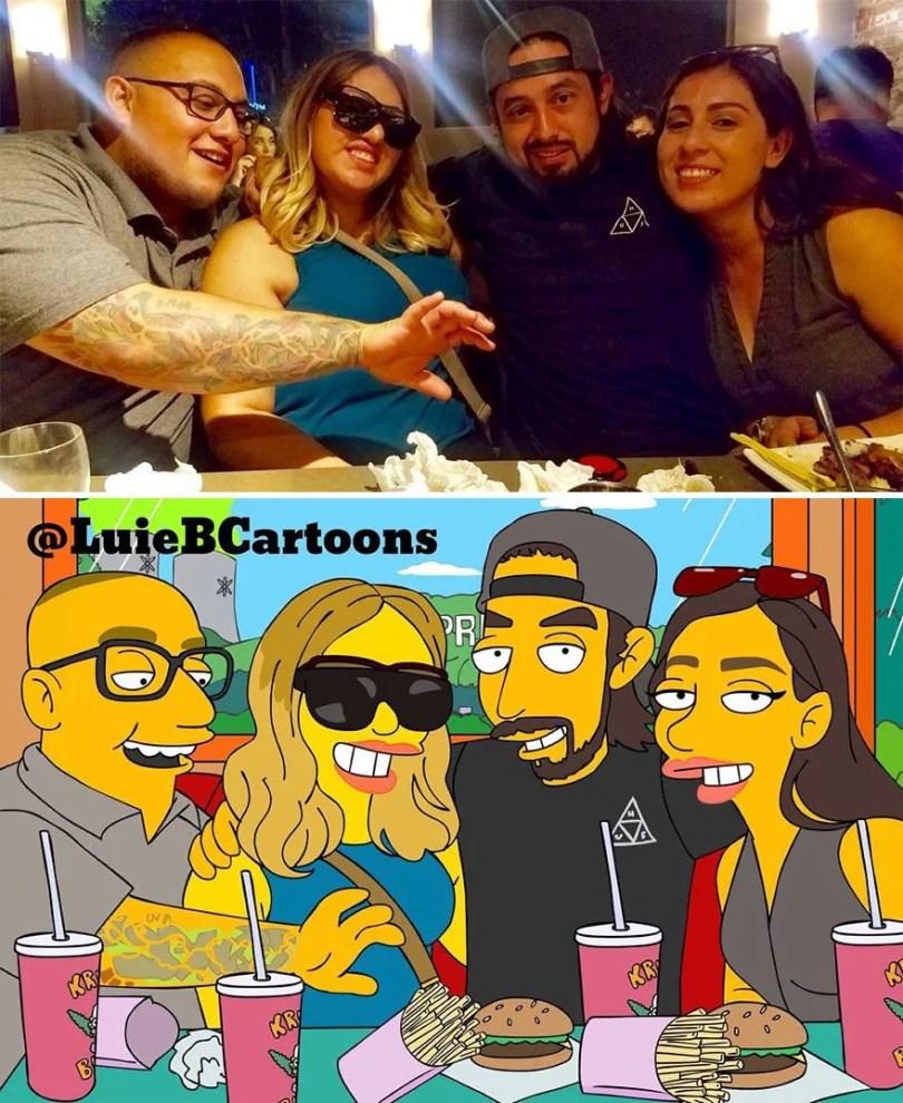 pessoas desenhadas como simpsons 49 - Você já pensou em se tornar um personagem do The Simpsons?