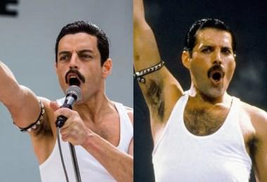 filme boemia rapsordy comparação entre filme real 5 - Bohemian Rhapsody: Compare cenas reais com as do filme
