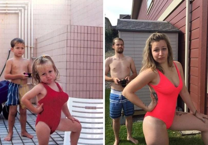 pessoas reproduzem foto antiga 18 - Famílias reproduzem suas fotos antigas com hoje em dia