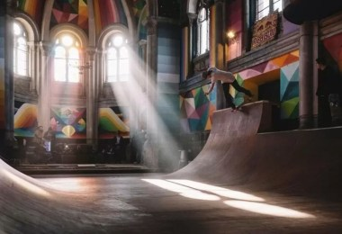 abandoned church skate park kaos temple okuda san miguel 6 - Igreja abandonada de 100 anos transformada em parque de skate com tema de graffiti