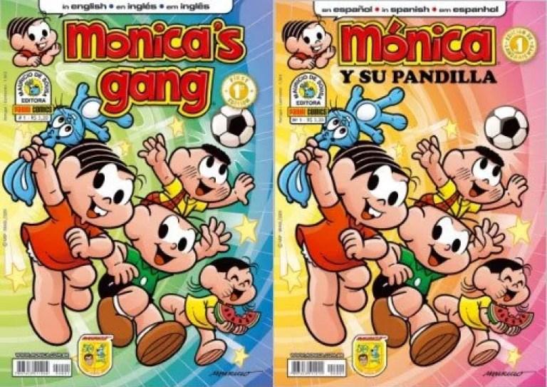 """monica eng esp - Você já viu os vídeos gibi da Turma da Mônica em inglês? """"Monica's Gang"""""""