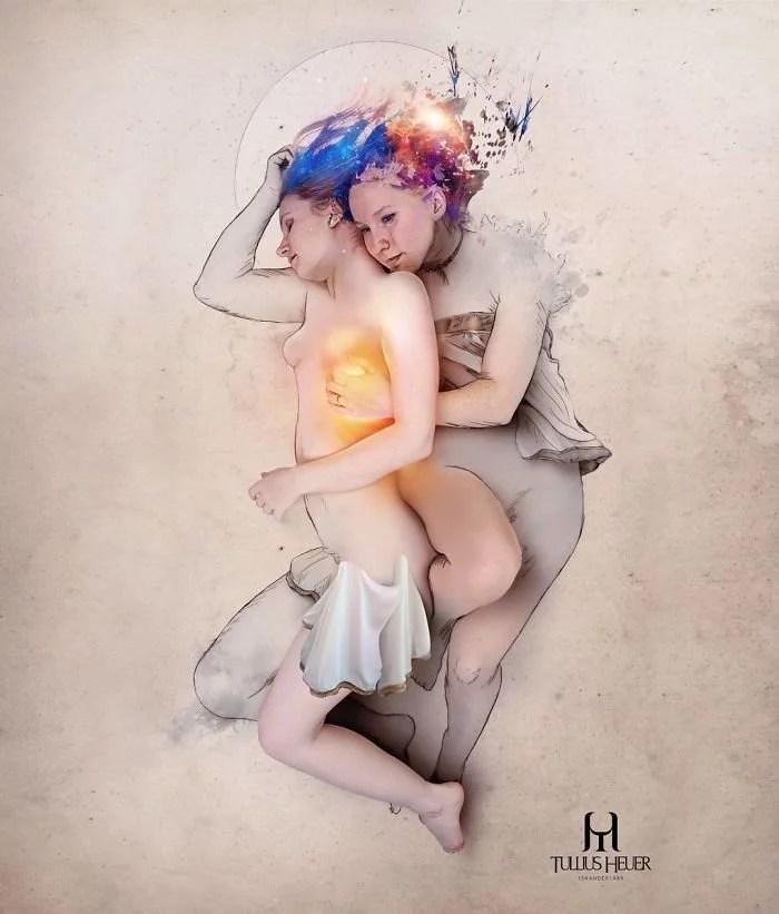 """Artista brasileiro Tullius Heuer cria pinturas digitais que saltam da página16 - Artista brasileiro cria """"pinturas digitais"""" que saltam da página"""