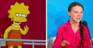 Greta Thunberg discurso igual de lisa simpson - Português reage a Erros da TV brasileira